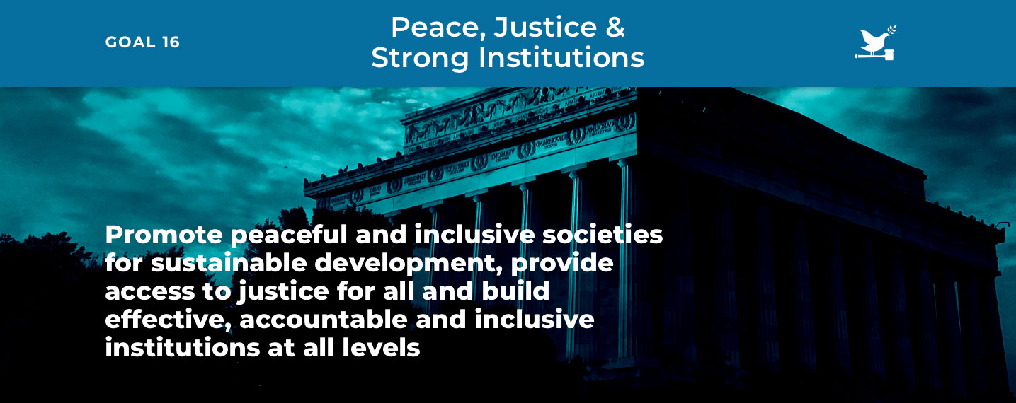 SDG16 – Peace, Justice & Strong Institutions